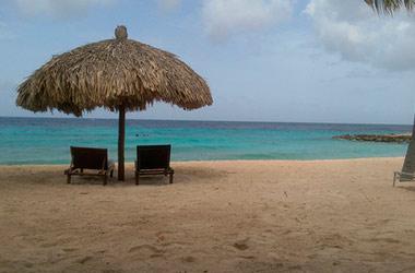 strandstoelen met parasol